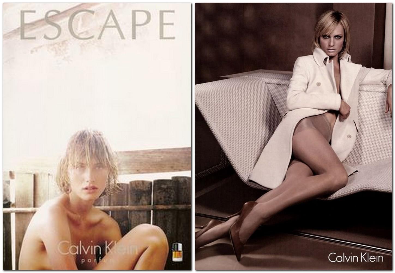 Amber Valletta for Calvin Klein