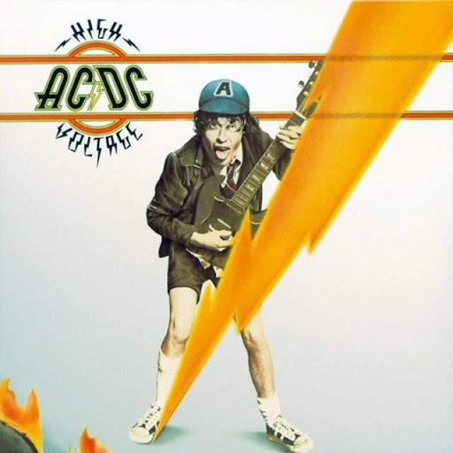 Angus Young. High Voltage. Album Cover