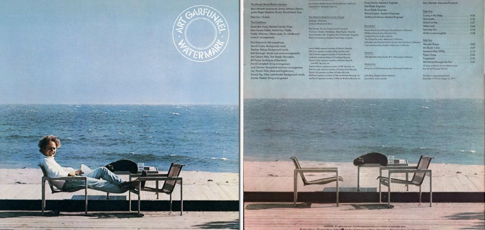 Art Garfunkel. Watermark. Album Cover
